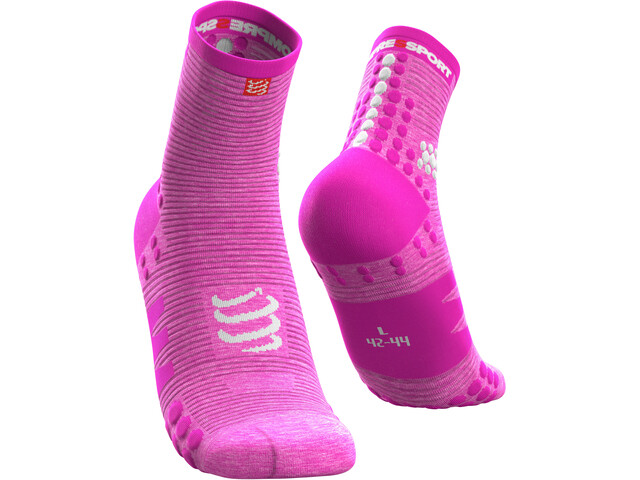 Compressport Pro Racing V3.0 Run Chaussettes Hautes, pink/melange